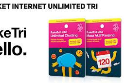 Paket TRI Unlimited Internet Gratis Tanpa Kuota