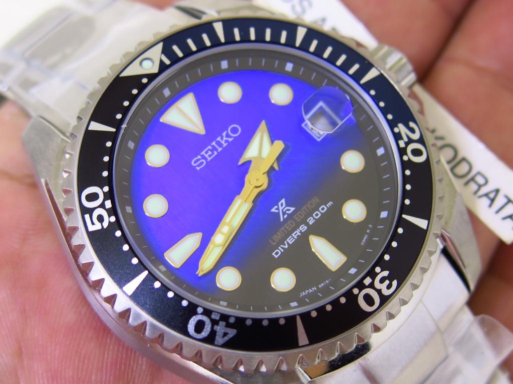 SEIKO DIVER SHOGUN BLUE BLACK DIAL TITANIUM CASE BRACELET - SEIKO SPB057J - AUTOMATIC 6R15 -LIMITED