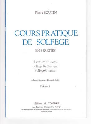 تحميل كتاب دورة تدريبية في Solfège - المجلد 1 - تأليف بيير بوتين
