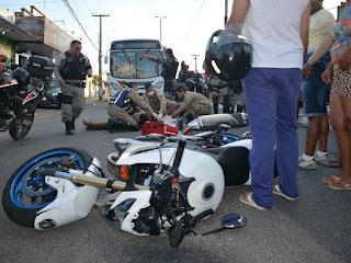 Menino fica ferido após ter bicicleta atingida por moto na Paraíba