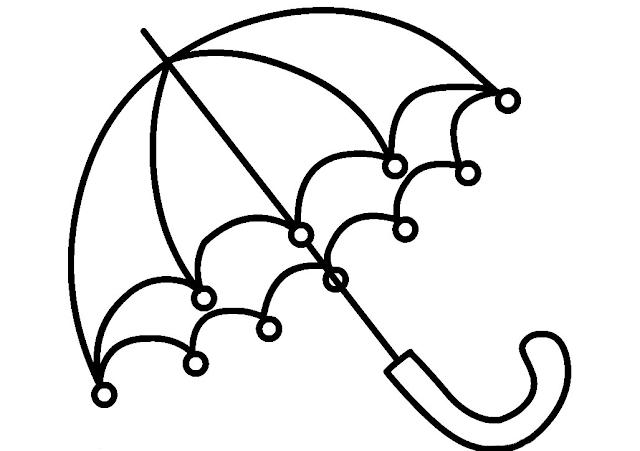 Gambar Mewarnai Payung - 3
