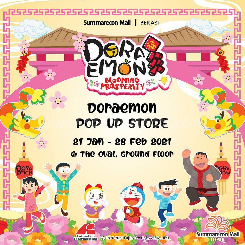 Doraemon Pop Up Store Summarecon Mall Bekasi Present Doraemon Blooming Prosperity