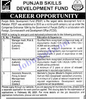 PSDF Jobs 2021 Latest Advertisment