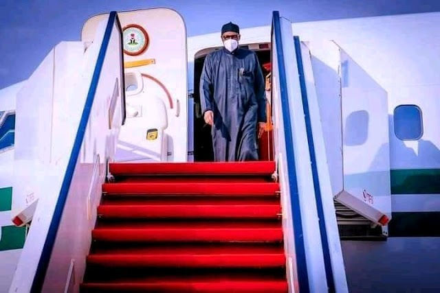Breaking : President Buhari Returns to Nigeria From United Kingdom