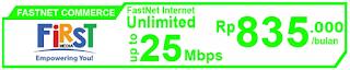 Paket Internet First Media FastNet Commerce