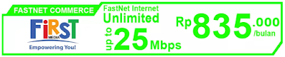 Paket Internet First Media FastNet Commerce