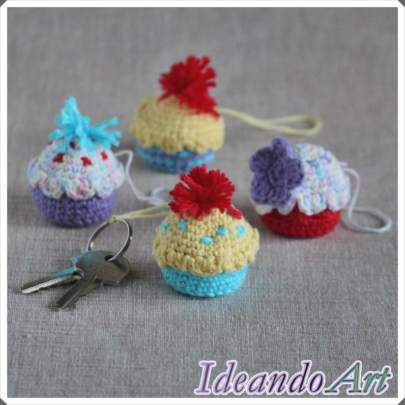 Cupcakes amigurumi personalizados