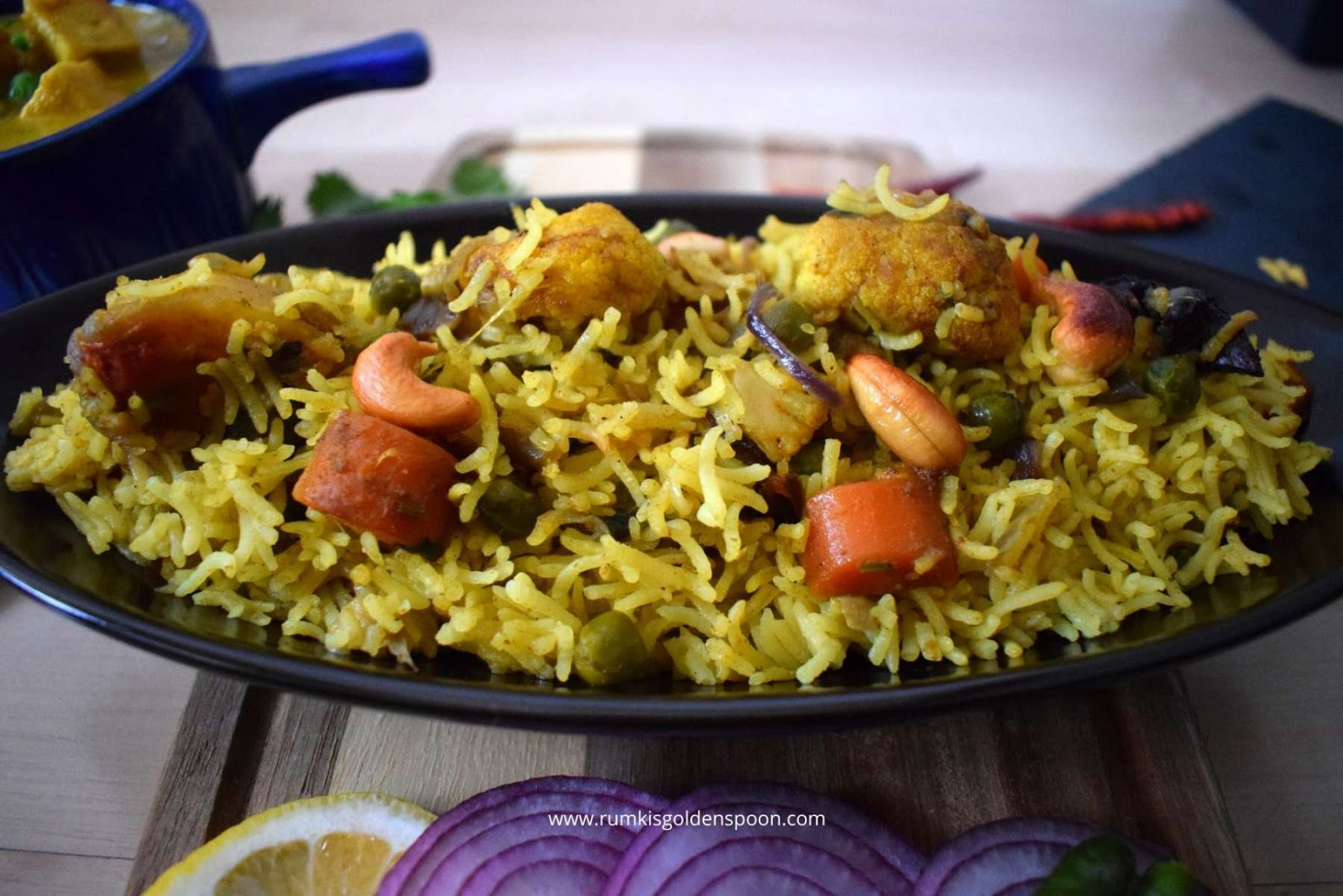 Easy Vegetable Dum Biryani Rumki S Golden Spoon