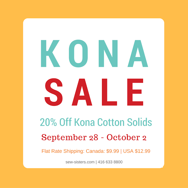 Sew Sisters Quilt Shop: Mark Your Calendar - Kona Sale : sew sisters quilt shop toronto - Adamdwight.com