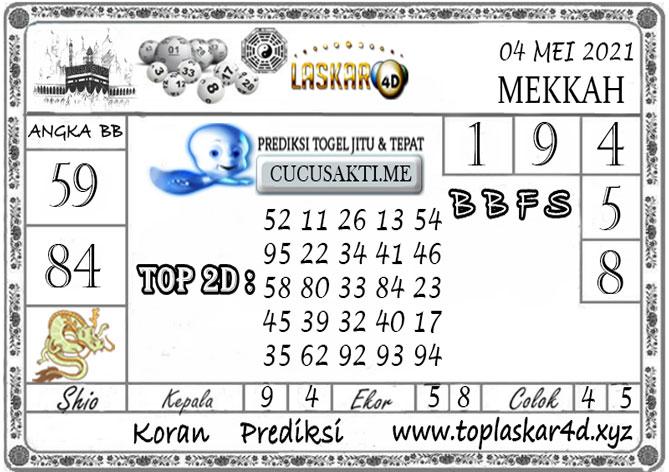 Prediksi Togel MEKKAH POOLS LASKAR4D 04 MEI 2021
