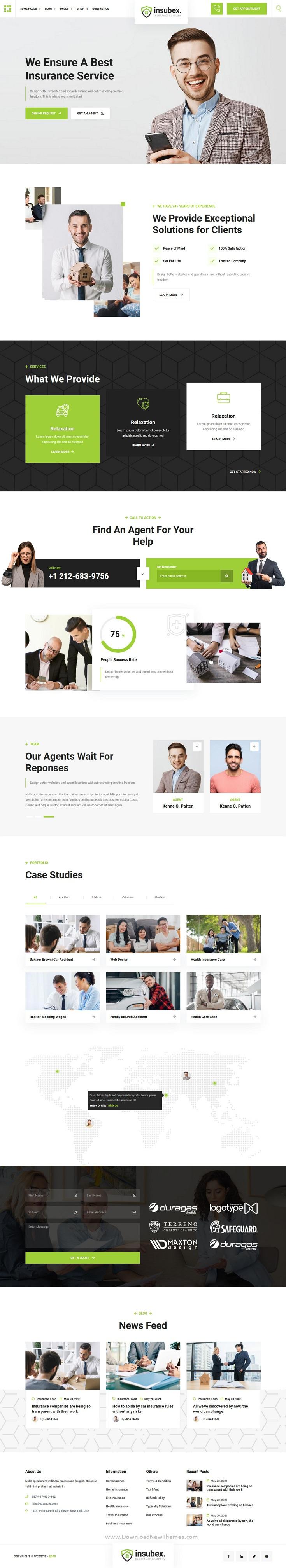 Insurance Broker Website Template