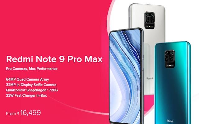रेडमी के Smartphone Redmi Note 9 Pro Max की बिक्री 27 मई को दोपहर 12:00 बजे से होगी