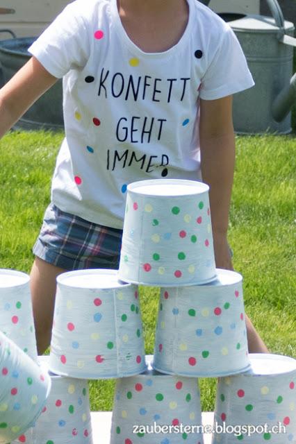 Konfetti geht immer, DIY Blog Schweiz, Kindergeburtstag, Konfetti Party