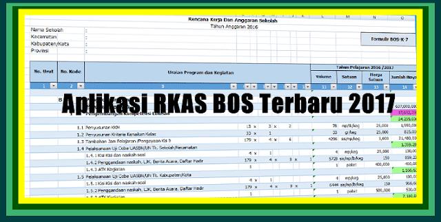 Aplikasi RKAS BOS Terbaru Versi 2017 Sesuai Juknis Dinas