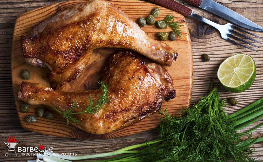 Жареные куриные окорочка