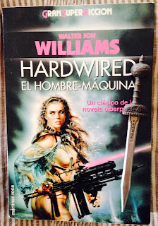 Portada del libro Hardwired, de Walter Jon Williams