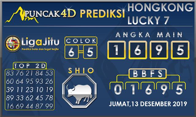 PREDIKSI TOGEL HONGKONG LUCKY7 PUNCAK4D 13 DESEMBER 2019