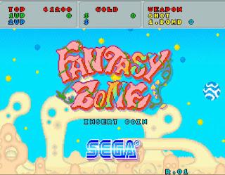 セガ ファンタジーゾーンのタイトル画面