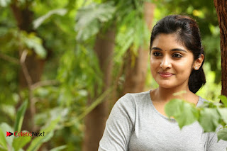 Actress Niveda Thomas Pictures in Black Jeans at Gentleman Movie Interview  0174.JPG