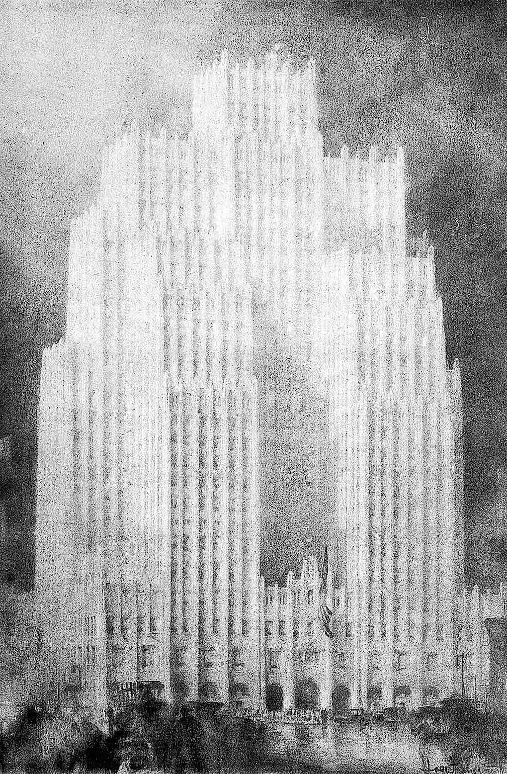 Hugh Ferriss 1929, a giant building