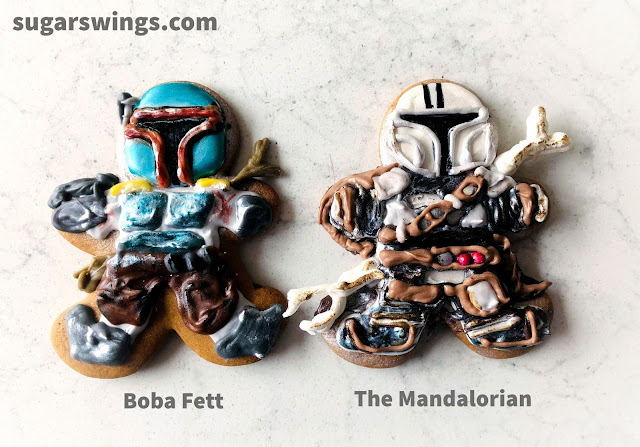 boba fett and mandalorian cookie
