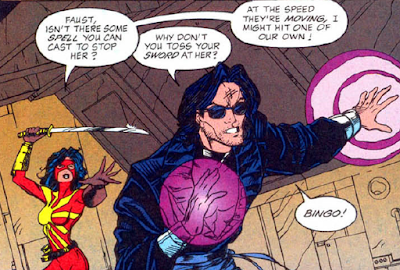 panel from Outsiders v2 #23 (1995). Property of DC comics.