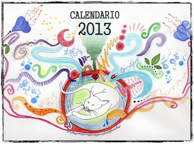 Calendario 2013 Design Illustration Cats