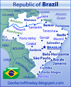 Map of Brazil, new and detailed