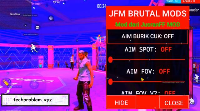 Free Fire Mod Menu JFM Brutal Mods Work Rank Teleport Antiban Anti Blacklist