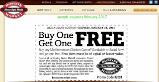 free Boston Market coupons february 2017