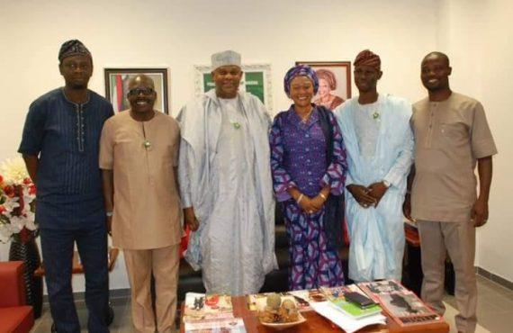APC Lawmakers pay a solidarity visit to Sen. Remi Tinubu