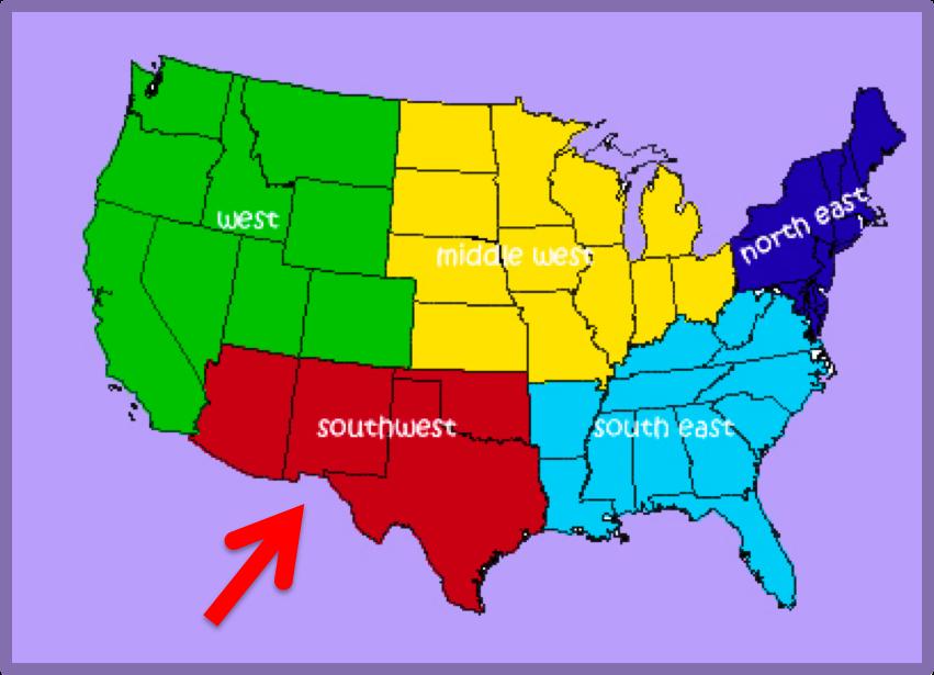 southwestern united states; southwest u.s.