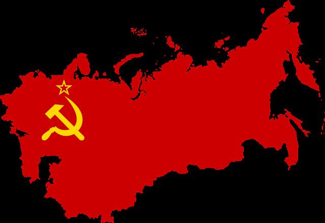 Peta dan bendera Uni Soviet