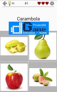 Soluzioni Frutti, verdure e noce livello 1