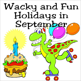 Find a reason to celebrate every day of the month with these wacky and fun holidays throughout the month of September.  You'll find everything from Cow Chip Throwing Days to Opposite Day to Bright Pink Lipstick Day and more!