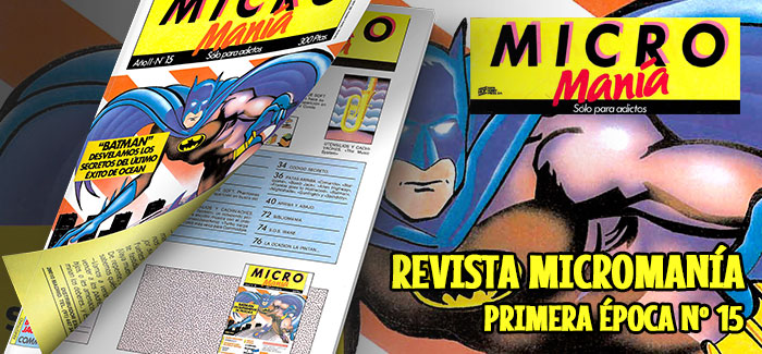 Revista Micromanía Primera época Número 15 1986