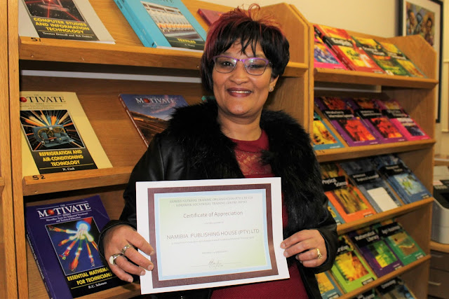 Norma Brand of NPH with the Certificate of Appreciation from WVTC