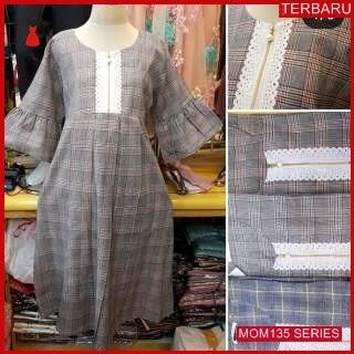 MOM135D21 Dress Hamil Menyusui Modis Burberry Dresshamil Ibu Hamil