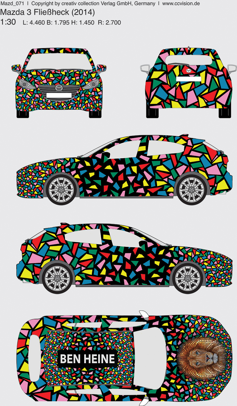 Car wrapping - abstract art by ben heine for Mazda