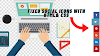 Create Social media icon with HTML and CSS|Social media