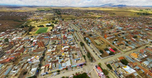 Panorama aéreo de Villazón y en 306 grados