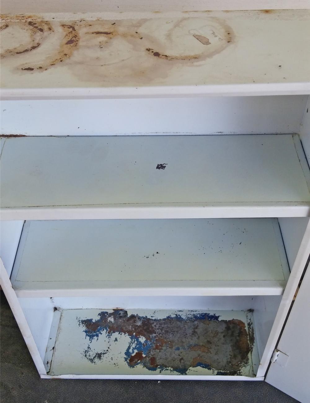 vintage medicine cabinet inside