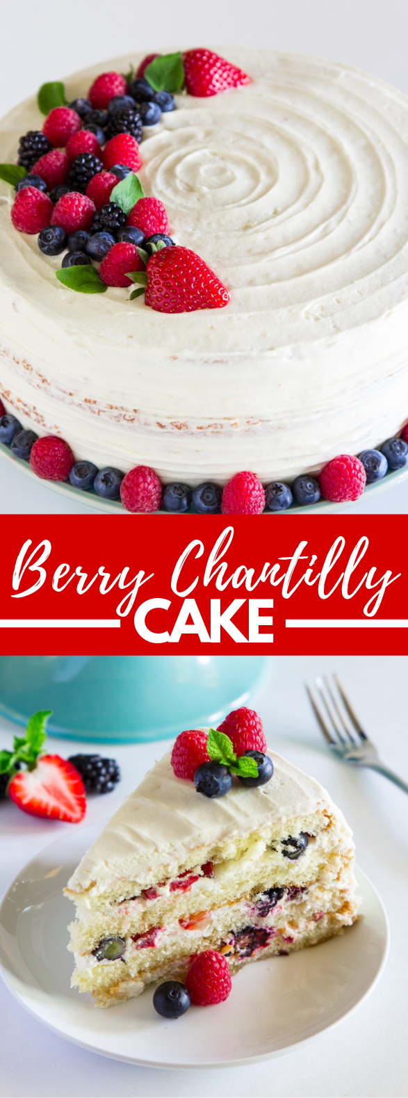 Berry Chantilly Cake #desserts #whitecake