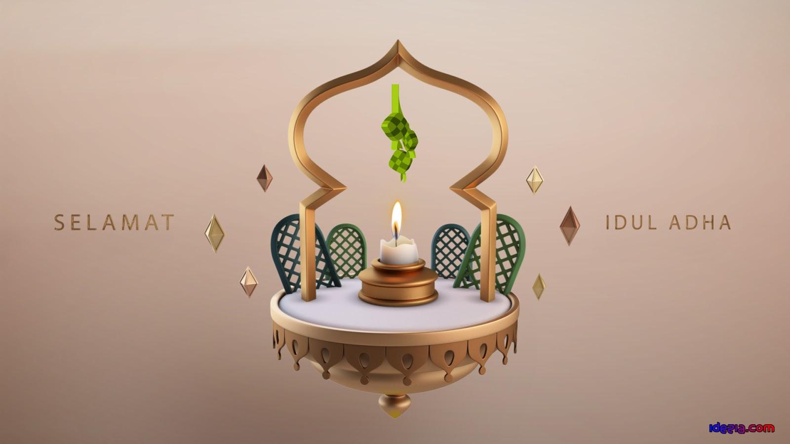 Gampar Ucapan Selamat Idul Adha Terbaru 2020 1441 Hijriyah Lebaran Haji untuk WhatsApp, Instagram, Youtube