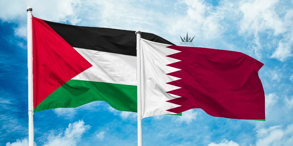 اروع خلفية علم قطر مع فلسطين صور تجمع قطر وفلسطين