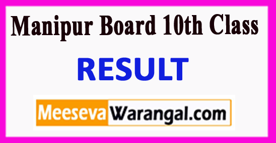 Manipur Board 10th Class Result 2018
