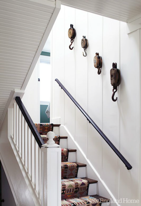 Nautical Pulleys as Wall Decor