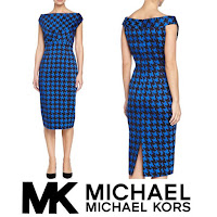 MICHAEL KORS Dress and CHRİSTİAN LOUBOUTİN Pumps - Style of Queen Maxima of Netherlands