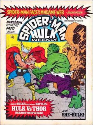Spider-Man and Hulk Weekly #415, Thor vs Hulk