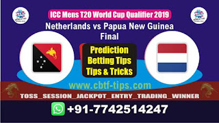 Who will win Today WC T20 Qualifier, Final Match PNG vs NED Final, ICC Men's WC T20 Qualifier 2019